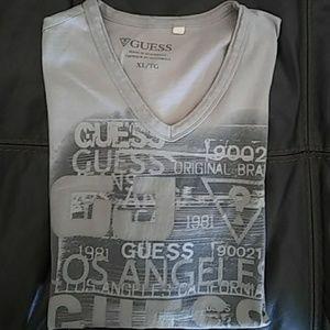 Men's Guess V-Neck Shirt